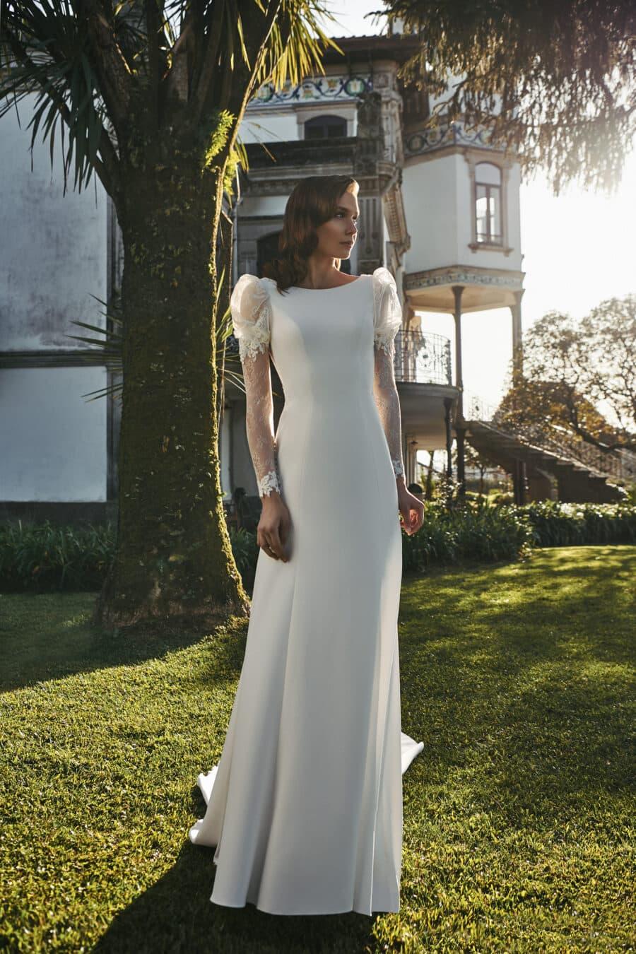 Vestido de novia modelo Lua colección 2021 de Silvia Fernández